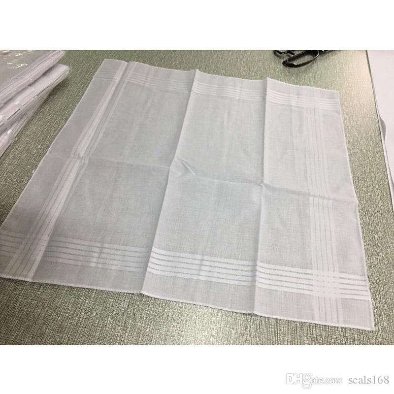 100٪ القطن الأبيض منديل ذكر الجدول الساتان hankerchief منشفة مربع حك عرق ماصة غسل منشفة للطفل الكبار HH7-916
