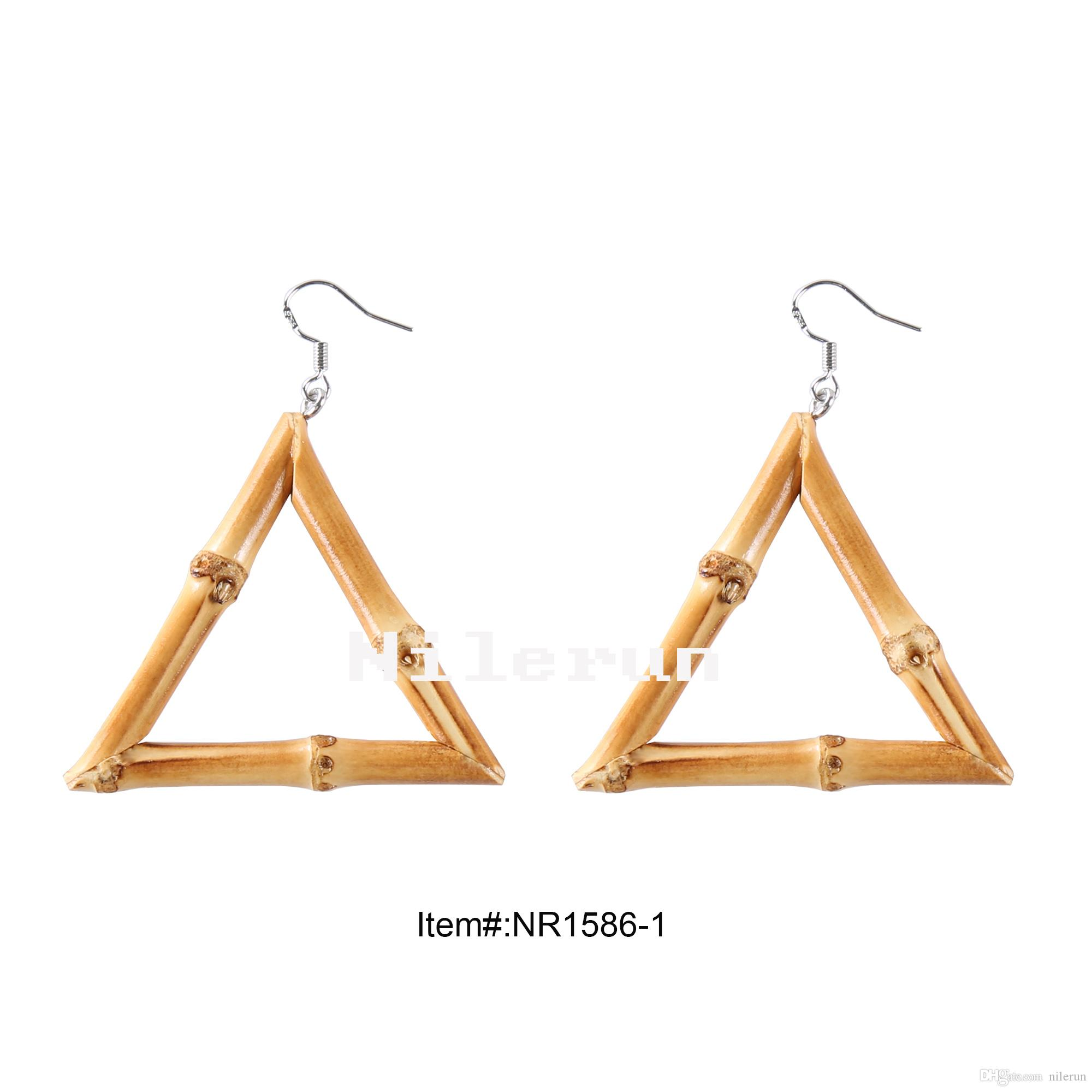 Fashion Triangle Natural Bamboo Root Earrings Bamboo Root Earrings
