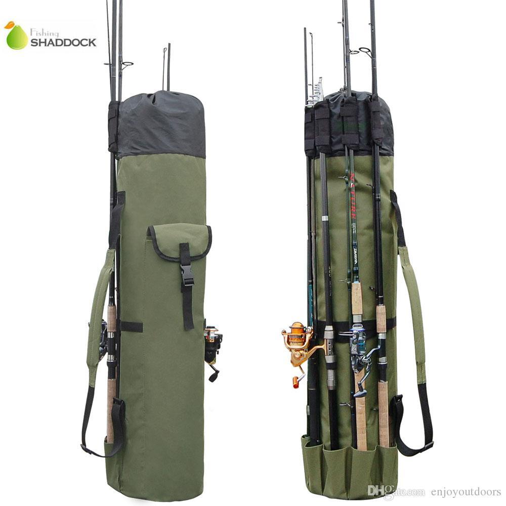 도매 낚시 액세서리 새로운 Arrivel 휴대용 다기능 나일론 낚시대 가방 케이스 낚시 태클 도구 저장 가방