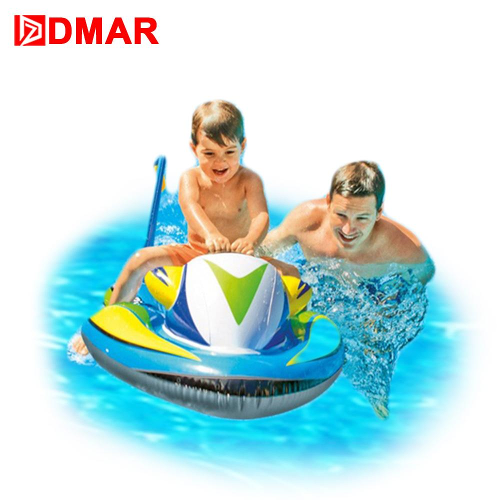 2018 dmar 117cm 46inch inflatable speedboat pool float ride on toys