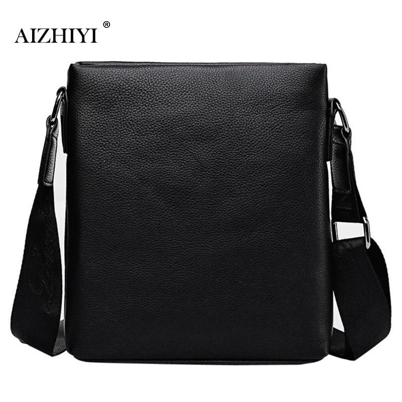 66b52e8c0caf Men Shining Casual Briefcase Sling Handbags PU Leather Pure Solid ...