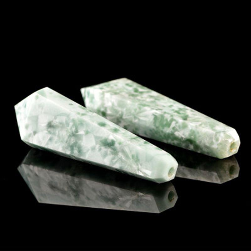 Yeşil Jasper Gemstone Boru El Işi Muhteşem Sivri Doğal Jade Taş Ejderha Kar Tanesi Yeşil Akik Tütün Sigara Borular Aksesuarları