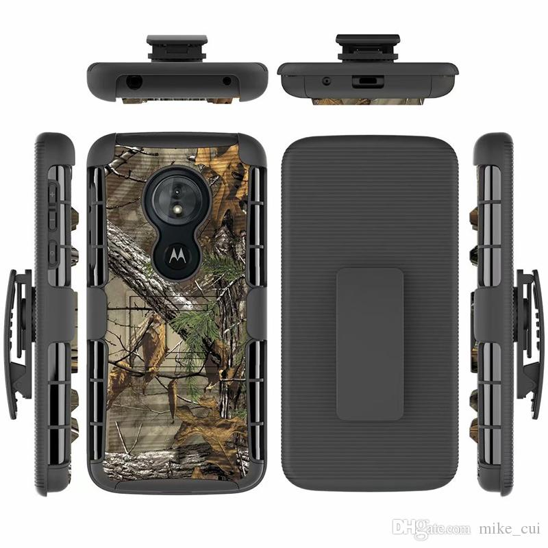 finest selection 3bc78 1e1eb For Motorola Moto G6 Play / G6Play Hybrid Heavy Duty 3 in 1 Military Camo  Hard Shockproof Case For G6Play Belt Clip Stand Cover
