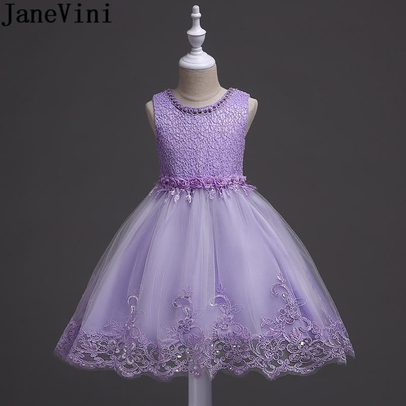 8f9303006 Wholesale Light Purple Sequined Flower Girl Dresses For Wedding Ball Gown  Pearl Lace Kids Prom Evening Gowns Robe Communion Dress Ivory Flower Girl  Dresses ...