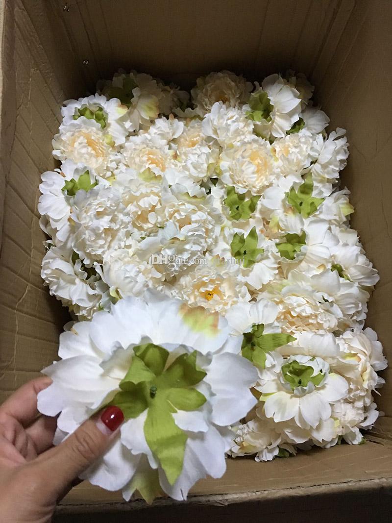 Yapay Çiçekler Ipek Şakayık Çiçek Başları Parti Düğün Dekorasyon Malzemeleri Simülasyon Sahte Çiçek Baş Ev Dekorasyonu 15 cm WX-C03