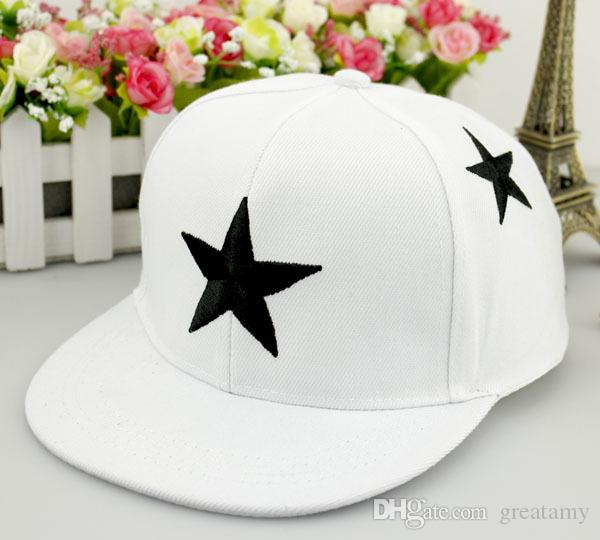 Fashion kids boy girls adjustable star pattern baseball caps toddlers kids summer snapback hip-hop peaked cap