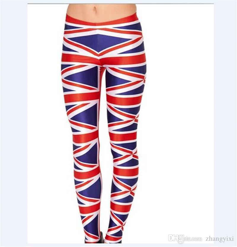 Wholesale Fashion Design Many Flags 3D Sublimation Printing Women Tight Leggings Elastic Pants Plus Size 4XL