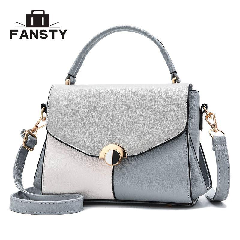 20689f617452 Fashion Women Bag Patchwork Panelled Bag Handbag Crossbody Casual ...