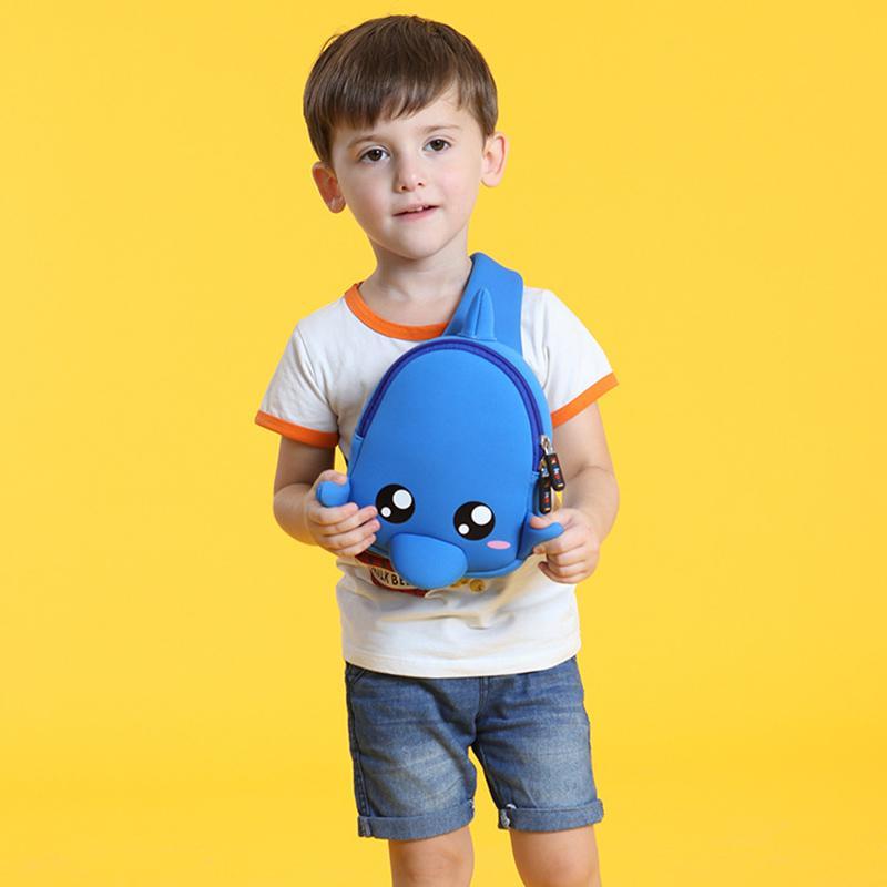 Cartoon Fish Design Children School Backpack Waterproof Neoprene Fabric For Toddler Boys Kindergarten Kids School Bag Mochila