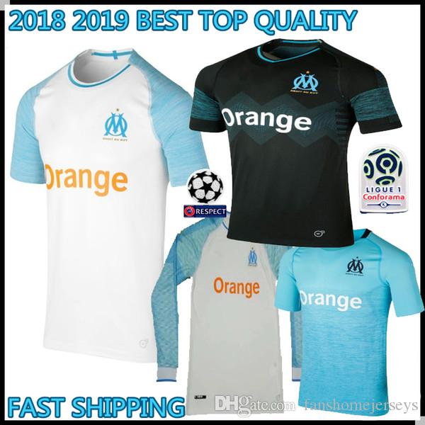 a1f3769dcb4 2019 2018 2019 Olympique De OM Marseille Long Sleeve Soccer Jerseys 19  L.GUSTAVO 10 PAYET 26 THAUVIN Custom 18 19 Home Away Football Shirts From  ...