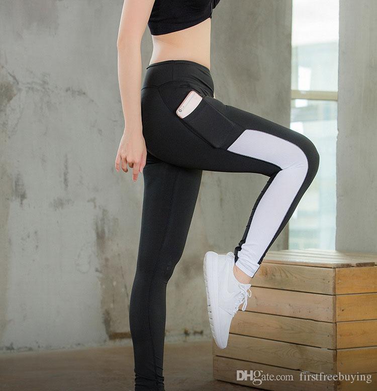1 Adet / grup 2018 Sıcak Satış Yoga Pantolon Spor Spor Tayt Kadınlar Legging İnce Koşu Rahat Sıska Tayt Pantolon Pantolon