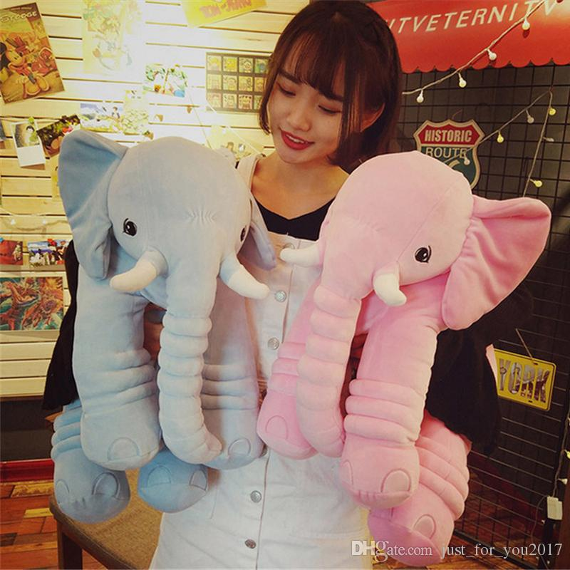 2019 Soft Plush Cartoon Elephant Toy 65cm Giant Stuffed Pop Animals