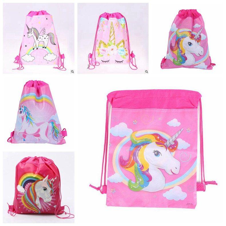 unicorn drawstring backpack children shool backpack kids draw string