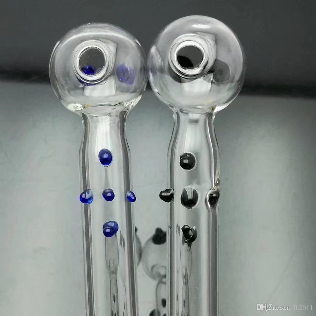 Vidros pote com a boca plana grosso de vidro bongs Pipes queimador de óleo tubulações de água Cachimbo de vidro plataformas petrolíferas fumadores frete grátis