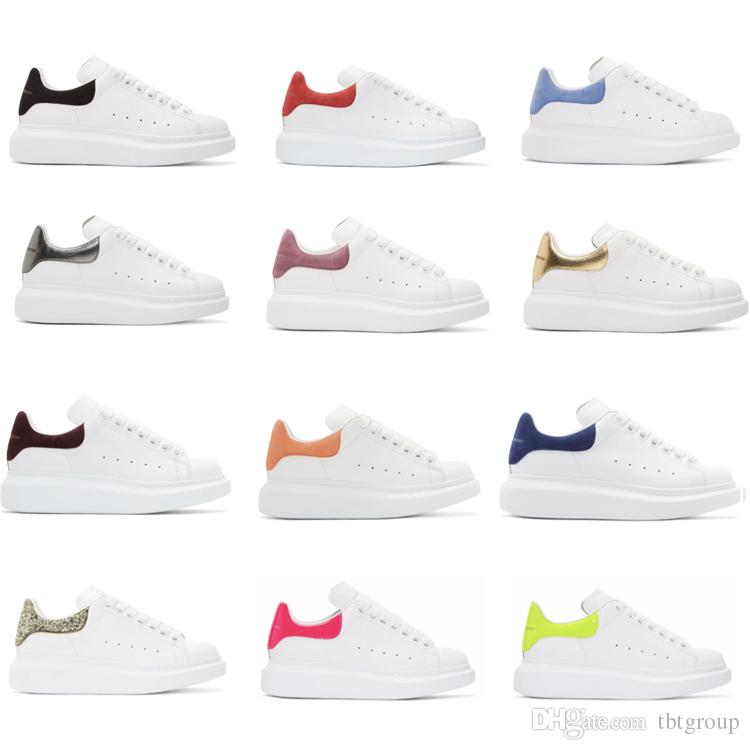 8879b7e7dbbe Top Luxury Designer Shoes Womens Mens Trainers White Leather ...