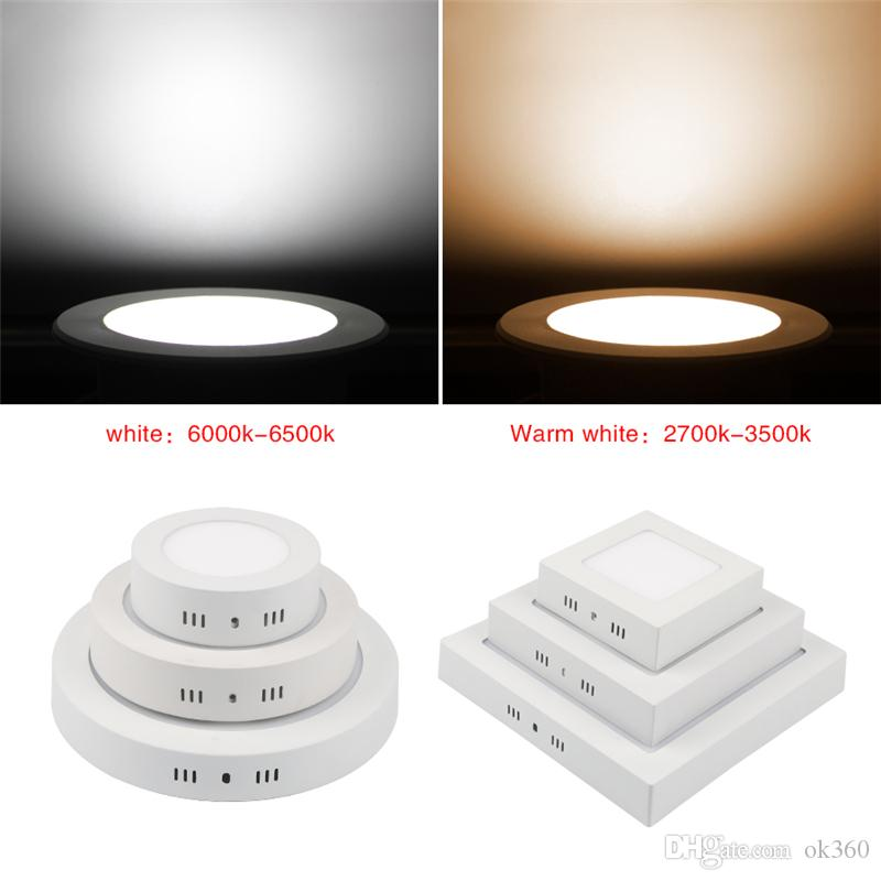 12W 18W 24W Round Square Panel LED Ceiling Down Lights Surface Mount Fixture US