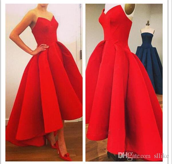 Red Sexy Strapless Empire Beach Evening Dress Elegant Long Evening Dress for Pregnant Women Formal Party Gowns Sequined Beading