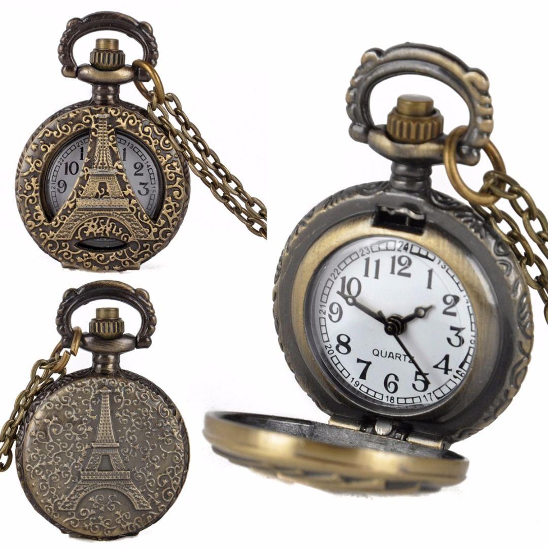 8fadd2d594b Shellhard Retro Pocket Watch 15 Styles Waterproof Vintage Antique Bronze  Pocket Chain Necklace Quartz Watch For Women Men Online Watches Hand Watch  From ...