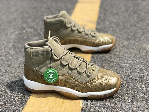 timeless design 03c31 9b7c2 2018 New With Box Real Fiber Carbon Mens and Womens Basketball Shoes  Sneakers 11S Neutral Olive for Women Sports Shoes Size Euro 36-43