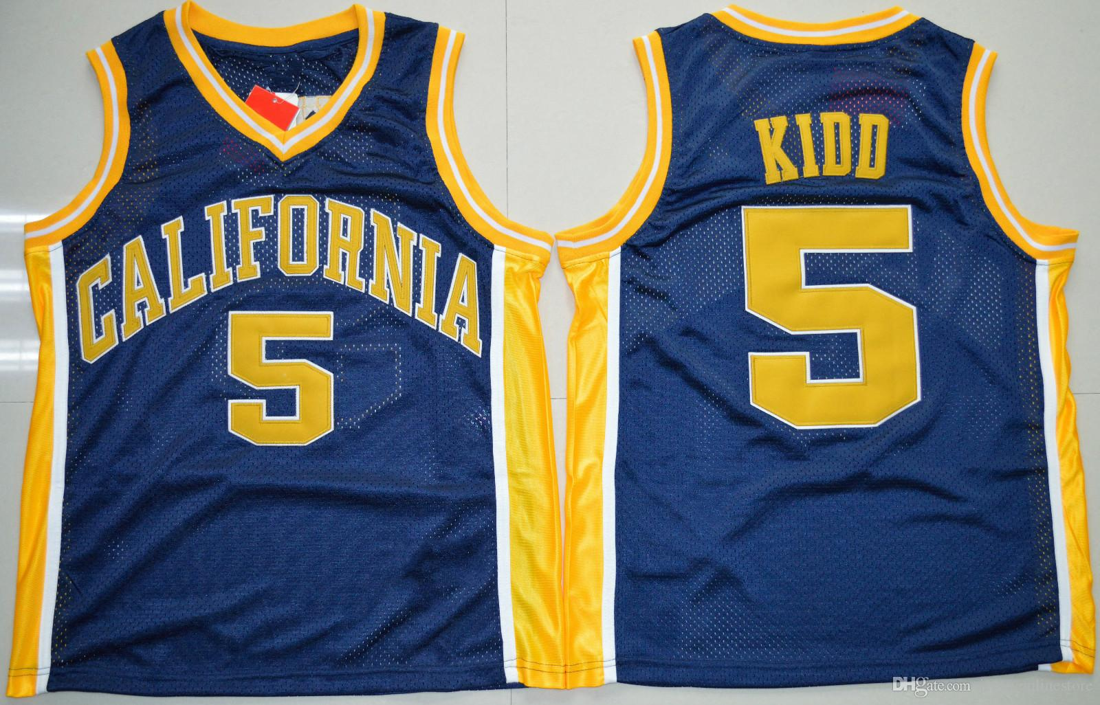 on sale 206dd 5783f Wholesale Men California Golden Bears #5 Jason Kidd Jersey Navy Blue  Embroidery Cheap College Basketball Jerseys Stitched