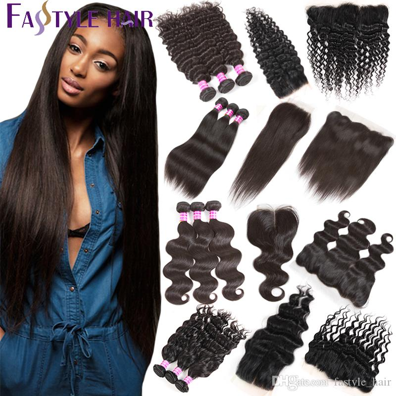 Shop Human Hair Wefts With Closure Online Wholesale Price Brazilian