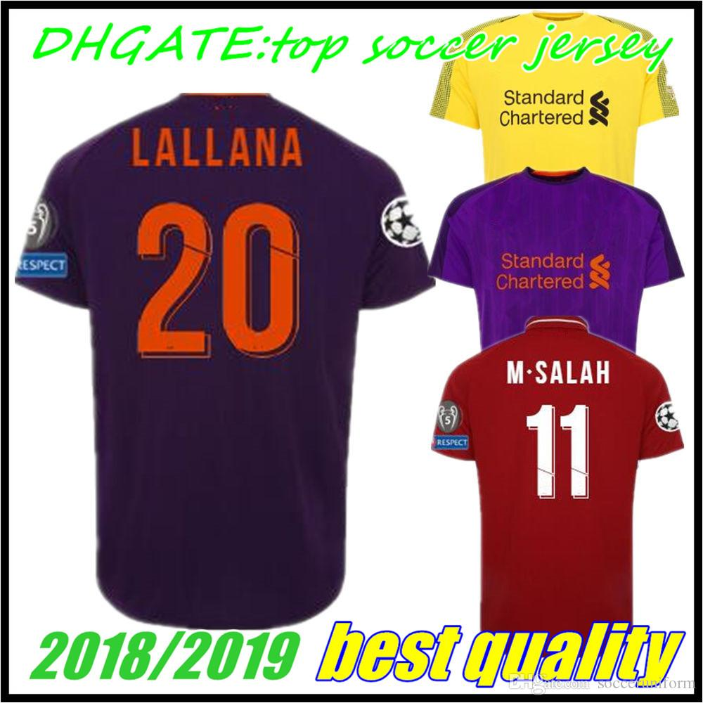 2017 2018 Champions League Soccer Jerseys 18 19 GERRARD MANE FIRMINO ... b4fcf040e