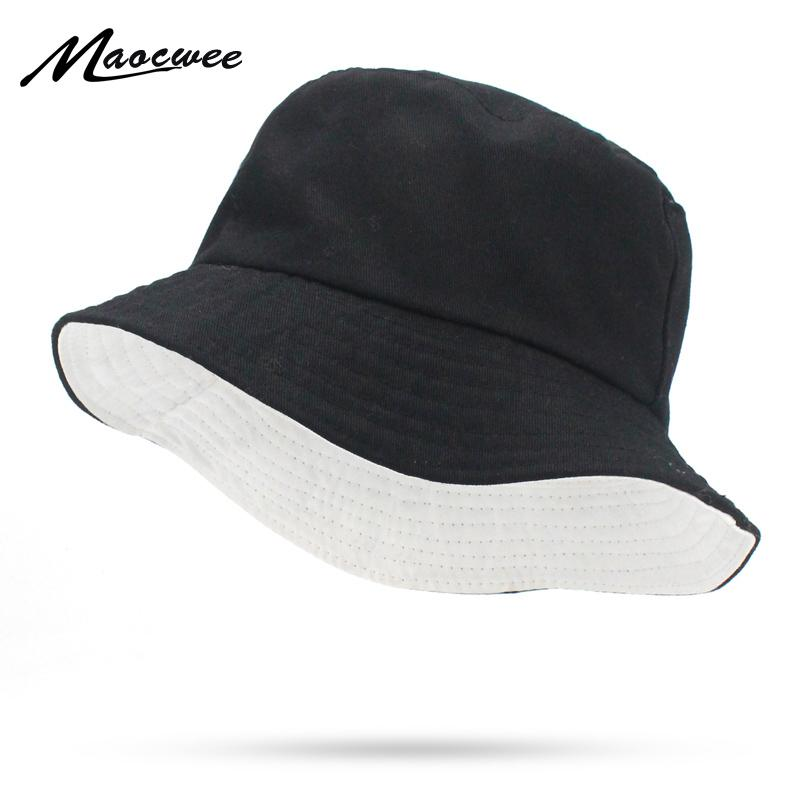 4002cce732f Solid Colors Black White Bucket Hats Women Men Outdoor Bucket Cap Women Hat  Unisex Hip Hop Caps Double Sided Fishing Hat Sunhat Eric Javits From  Value111