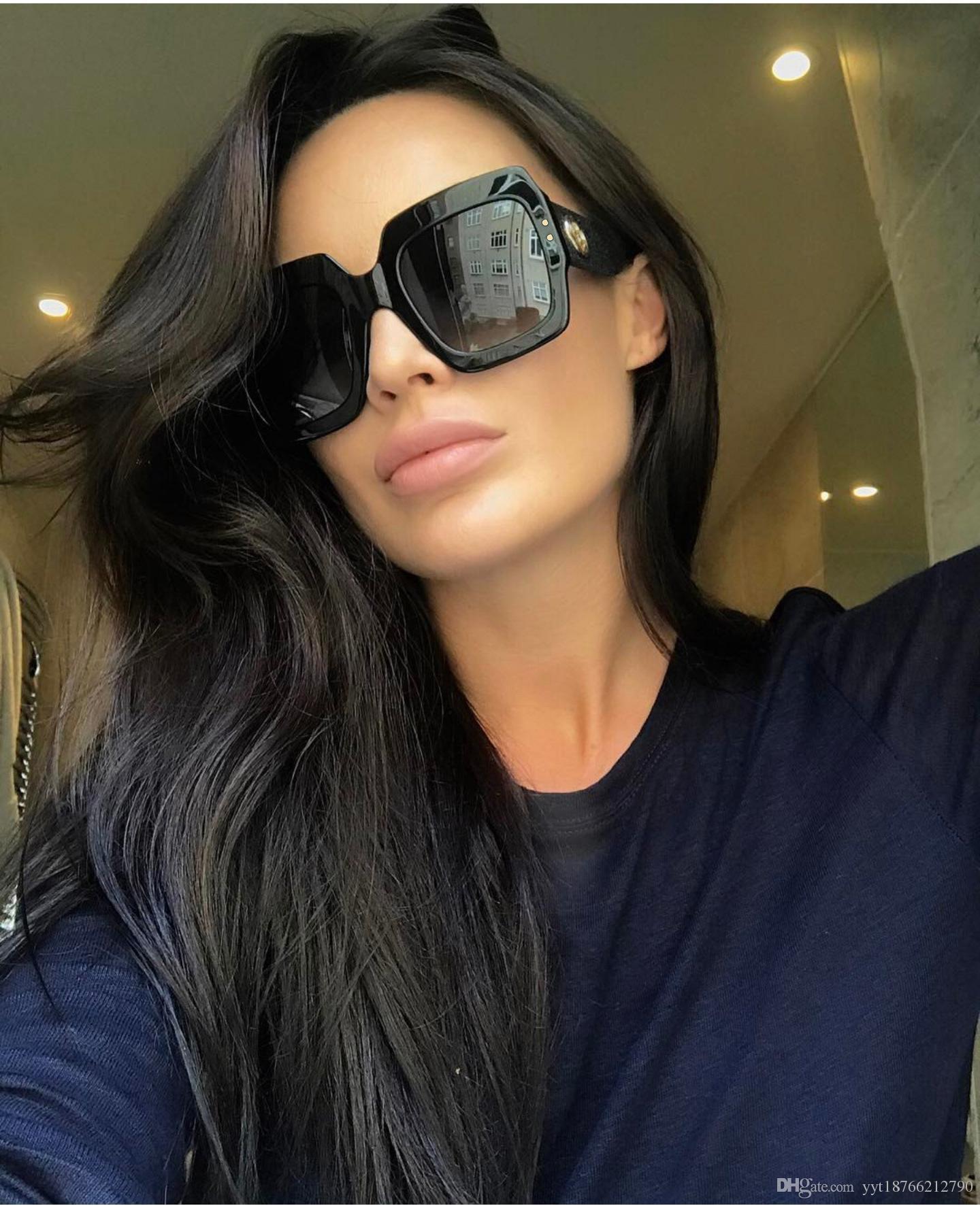 3fb2c66888 2018 Luxury Brand Italy Oversized Square Sunglasses Women Retro Fashion  Designer Big Frame Sun Glasses Female 08 Cheap Eyeglasses Online Sunglasses  At Night ...
