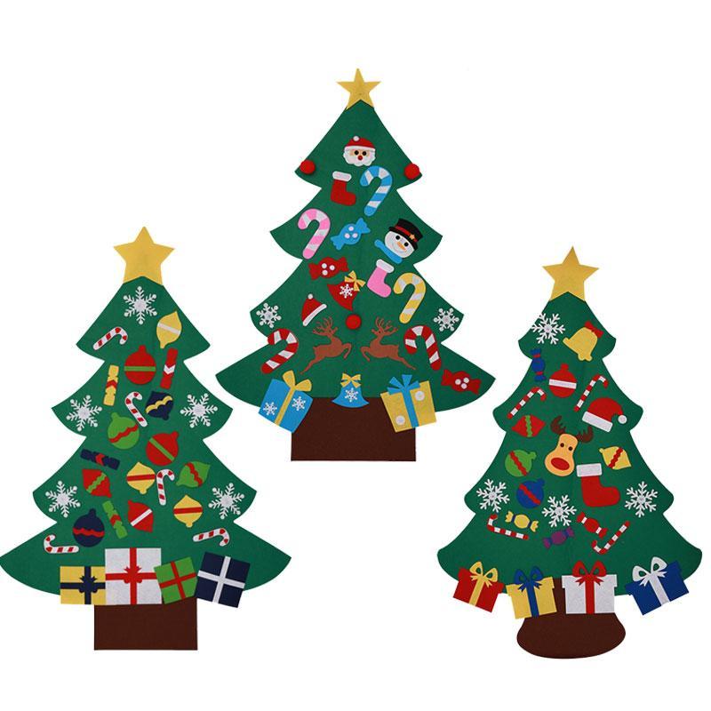 Großhandel 3 Stücke Mode Diy Filz Weihnachtsbaum Mit Dekorationen ...