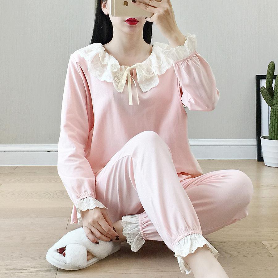 Nursing Maternity Sleepwear Autumn Winter Round Lace Breastfeeding Pajamas  Comfortably Breathable Pregnancy Nightwear Set A239 UK 2019 From Sophine14 1c4b6af2f