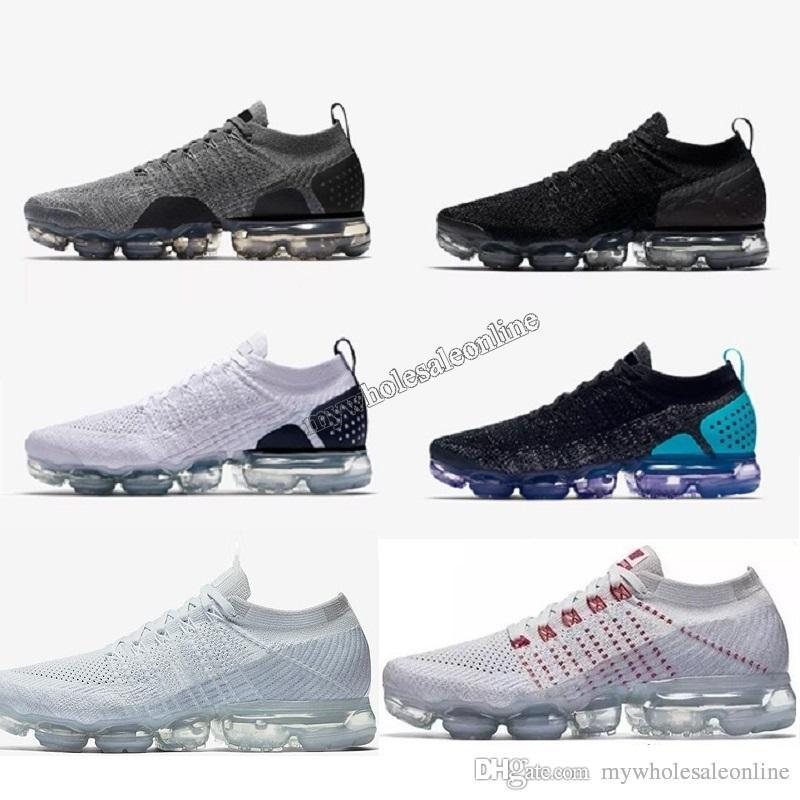 timeless design a4c77 8e8ef ... purchase acheter nike air max airmax vapormax shoes flyknit 2.0 triple  blanc noir rouge maxes bleu
