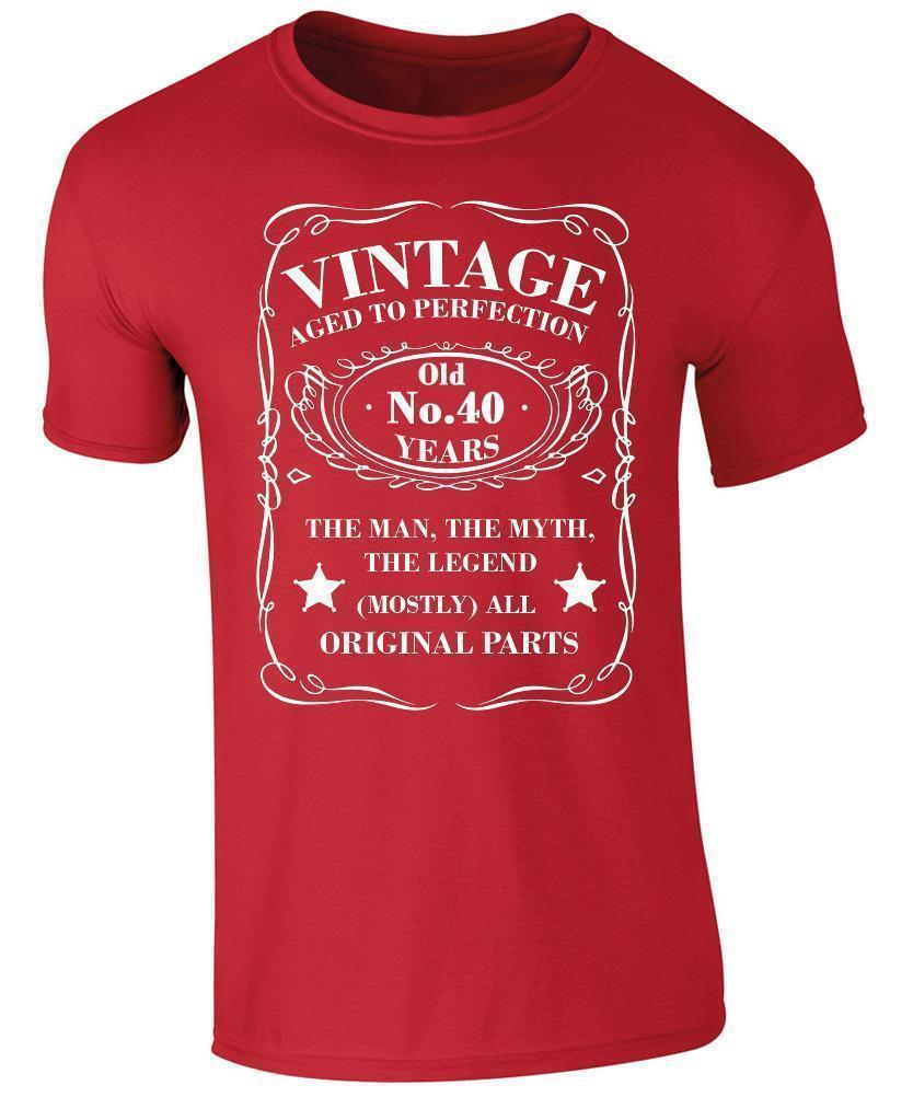 Vintage 40 Years Old T Shirt 40th Birthday Present Shirts Designs Online Shopping From Peng07 1208