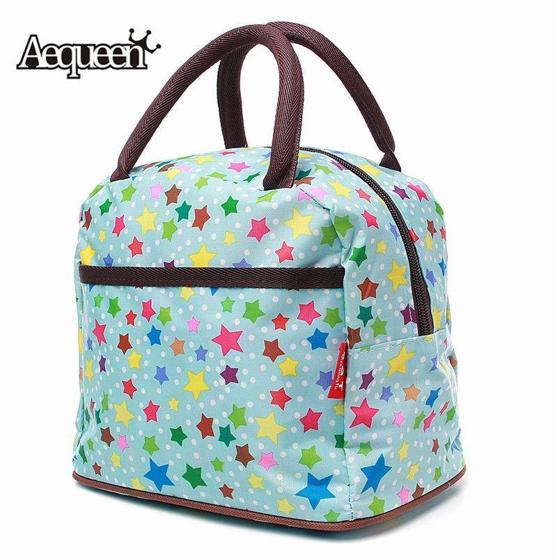 d0dea4dcea87 AEQUEEN New Hot Variety Pattern Lunch Bag Lunch box Women Handbag  Waterproof Picnic Bags Box For Kids Women