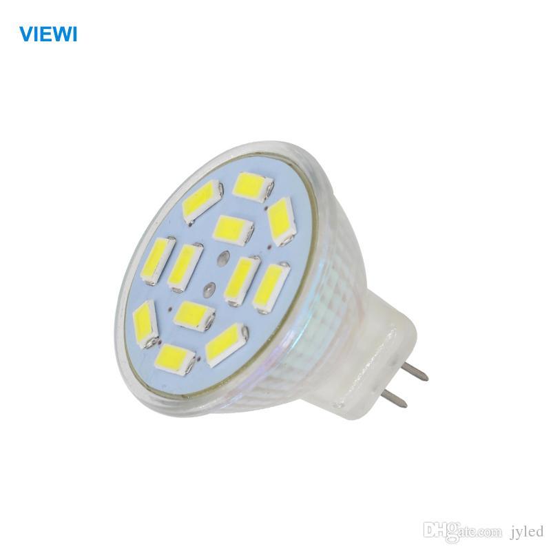 Viewi 10x Bombillas Led Spot Light 12 Volt 5730 12 Leds Mini Glass