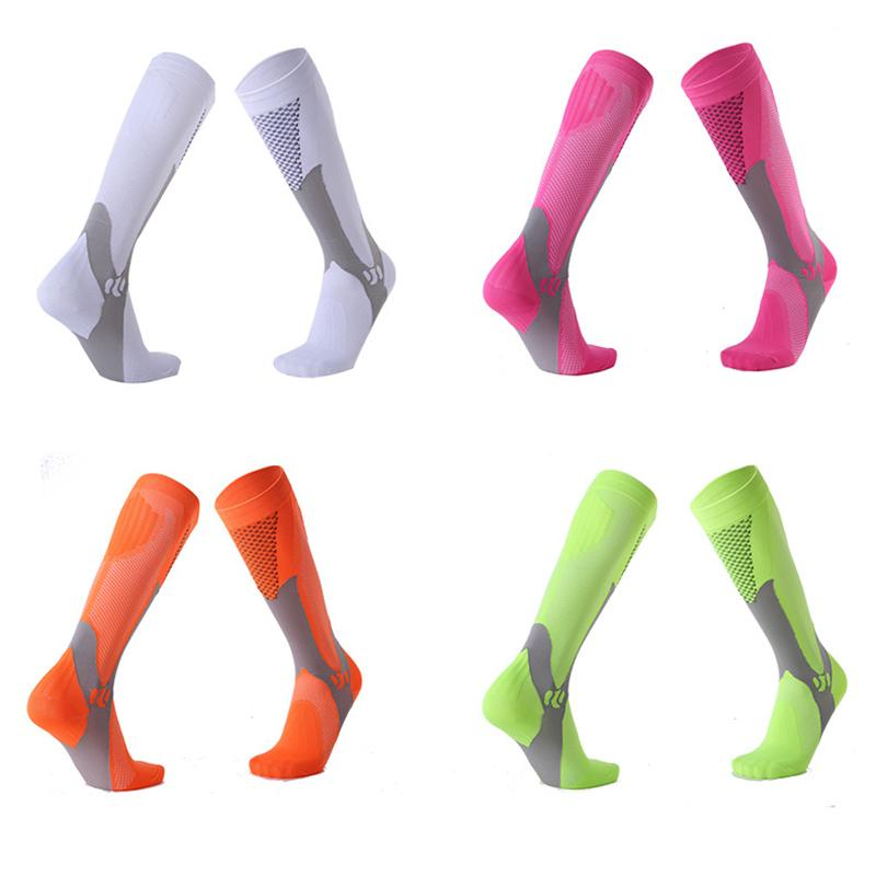 f31b9bd62 2019 Men Women Running Compression Socks Polyester Fabric Long ...