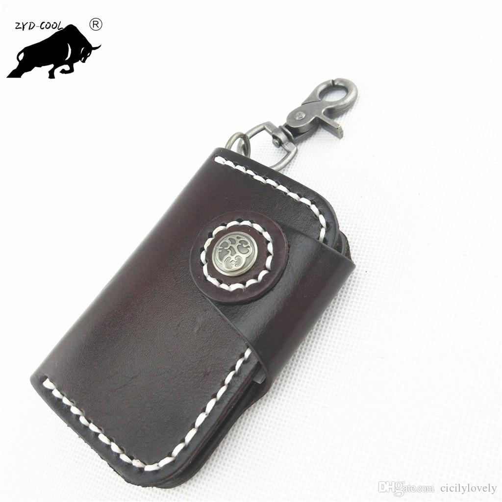 2018 Fashion Key Wallets Genuine Leather key Cases Key Chain cover drop