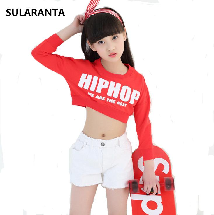 Girls Cotton Ballroom Modern Jazz Hip Hop Dance Competition Costume Set For  Kid Crop Tops Shorts Dancing Clothing Outfit Clothes UK 2019 From  Lbdapparel 3ab782a4c2a