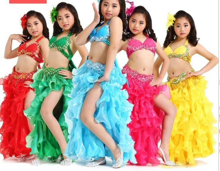 cfff3e170b Compre Terno De Dança Do Ventre Para As Meninas Dançando Dança Do Ventre  Terno Para Crianças Traje De Dança Do Ventre Sutiã + Cinto + Saia De 3  Peças 208 De ...