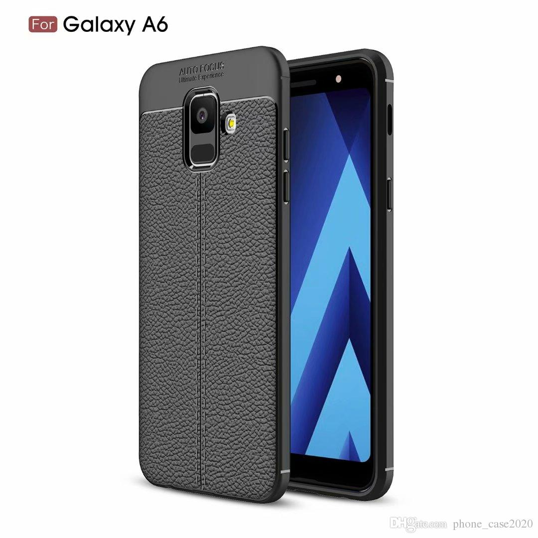 newest collection 48356 09441 Ultra Slim Thin Litchi Pattern Soft Case For Samsung Galaxy A6 A6 A8 A8 J6  2018 J4 J3 J7 2018 J7 Duo