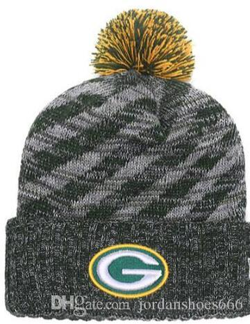 1dde424f3bb7e2 2019 Winter Hat Green Bay Beanie Stripes Sideline Cold Weather Sport Knit  Hat Wool Bonnet Warm TD Graphite Official Reverse Cap Beanies From  Jordanshoes666