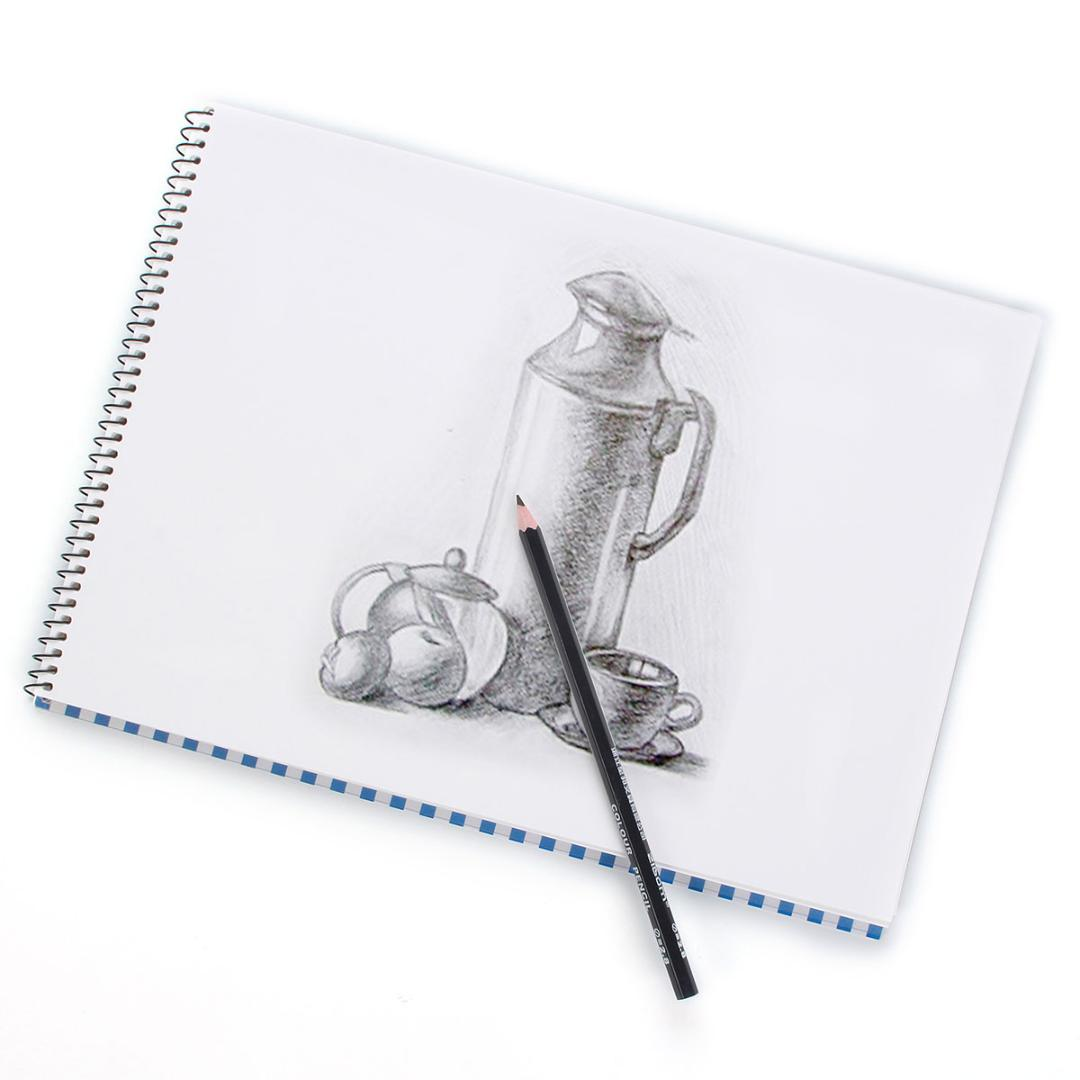 KICUTE A4 Spiral Coil Bound Art Sketch Book Artist Drawing Pad White Paper  30 Sheets Notebooks & Writing Pads Notebook