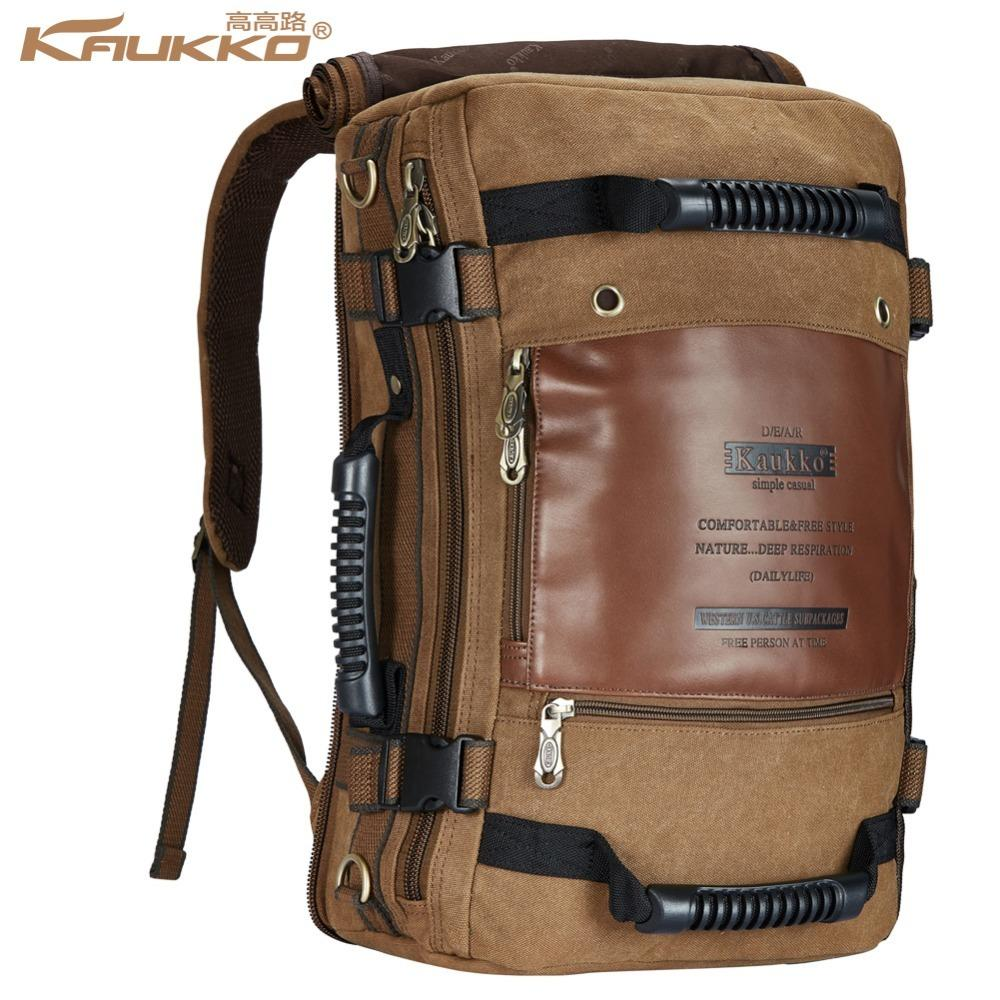 de37095ee6 Men Backpack Canvas Huge Travel Backpacking Functional Versatile Bags  Multifunctional Journey Bag Traveling Backpacks Kaukko Y1890401 School Bags  Messenger ...