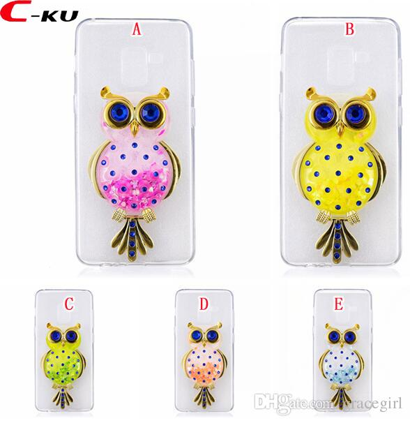 Liquid 3D Owl Soft TPU Case For Samsung Galaxy S9 S8 Plus NOTE8 S7 Edge J3  J5 J7 2016 2017 A3 A5 A7 J5 Prime Fashion Unicorn Quicksand Cover