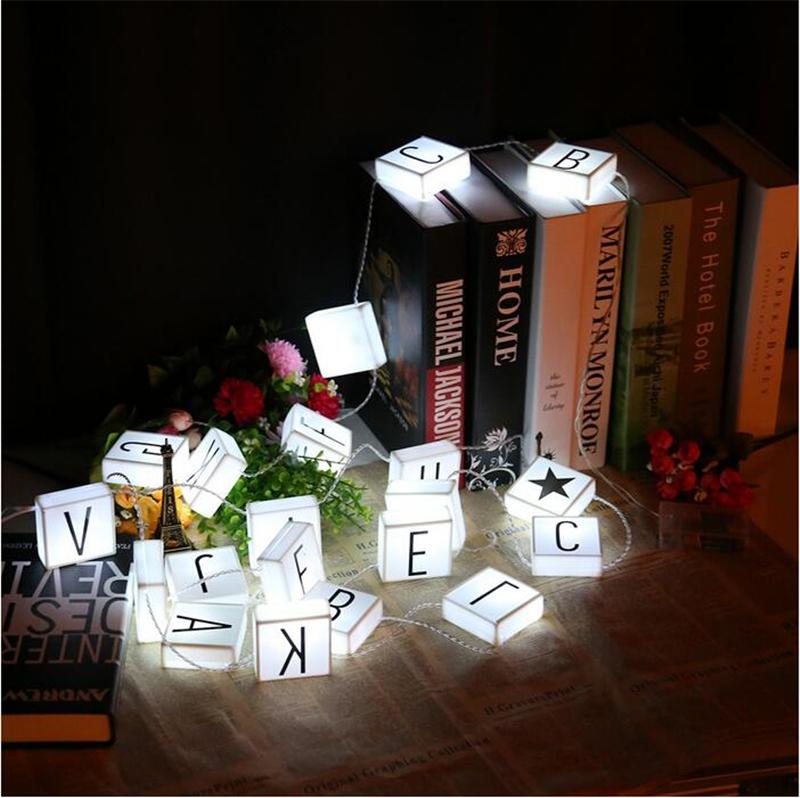 DIY LED Letter Hanging String Lights LED