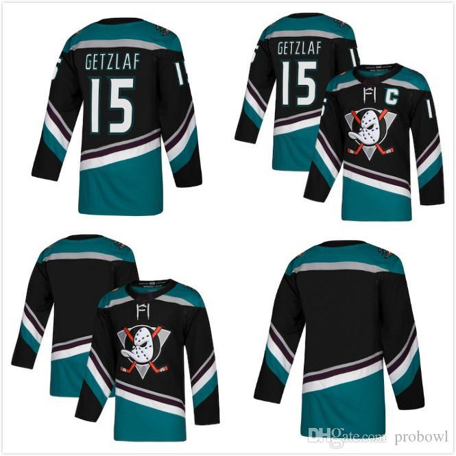 1616644ea35 2019 15 Ryan Getzlaf Custom 2018 Anaheim Ducks Black Teal Corey Perry Ryan  Kesler Teemu Selanne Paul Kariya Blank Hockey Jersey Men Women Kids From  Probowl