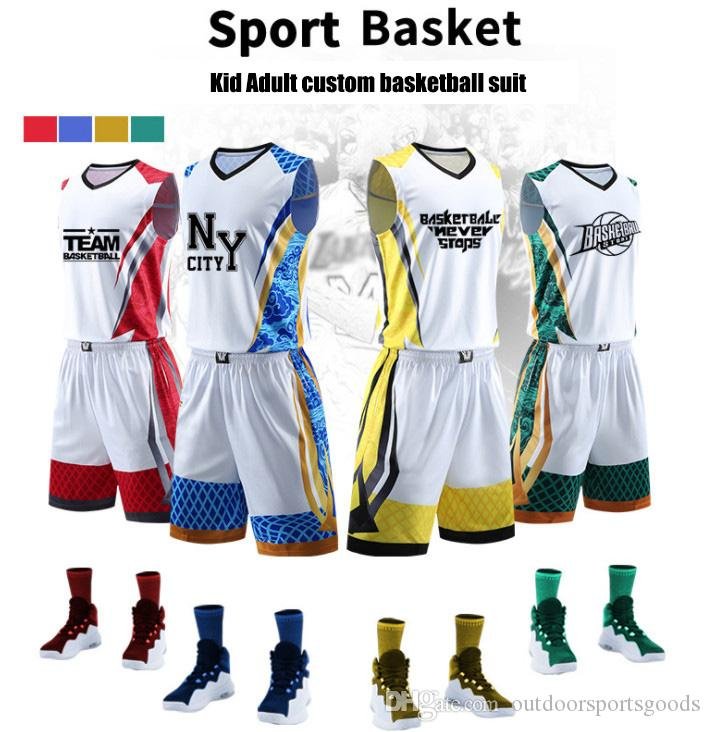 the best attitude 90eba 49af0 Cool New basketball Uniforms custom kids male adult ball suit basketball  training match jerseys customized wholesale printed Numbers
