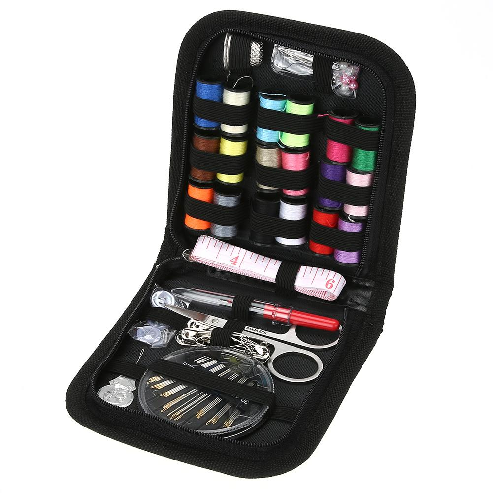 70PCS/Set Multifunction Sewing Box Sewing Thread Stitches Needles Tools Kit Cloth Buttons Craft Scissor Travel Sewing Kit