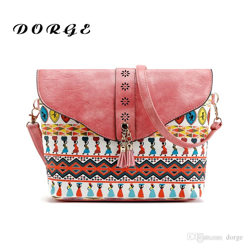 beebc5a63d New Fashion Print Single Shoulder Women S Bag Minimalist With Sweet Lady  Fringed Geometric Pattern Zipper Buckle Roll Over Oblique Satchel Womens  Bags ...