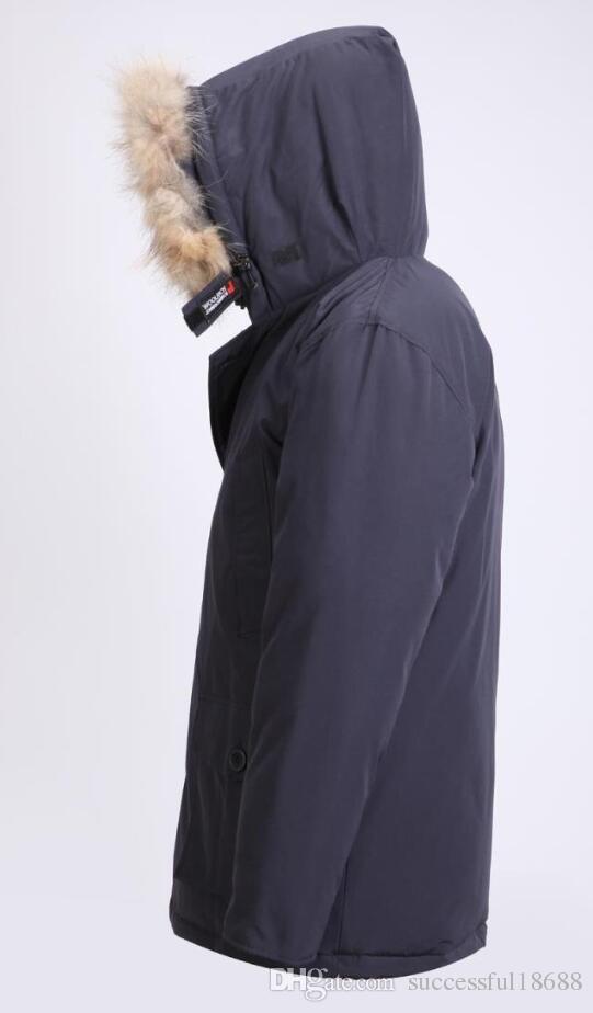 2019 La última moda Woolrich Brand Men Arctic Anorak Abajo chaquetas Hombre Winter goose down jacket 90% Outdoor Thick Parka Coat abrigos calientes