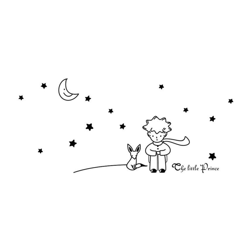 Großhandel Tapete Aufkleber 3 Farben Sterne Mond Kleine Prinz Boy  Wandaufkleber Wohnkultur Wandtattoos Tapeten Für Wohnzimmer 2018 B # Von  Carmlin, ...